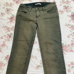 Free People Olive Jeans